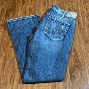 Silver suki boot cut distressed Jeans size 33